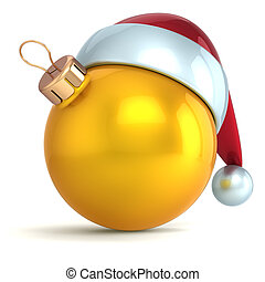 palla natale, oro, anno nuovo, fronzolo
