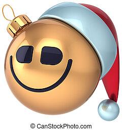 palla natale, sorriso, felice anno nuovo