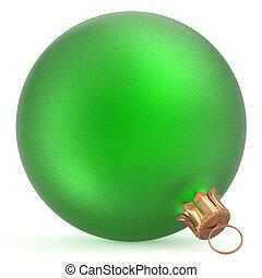 palla natale, wintertime, ornamento, verde, felice anno nuovo, fronzolo