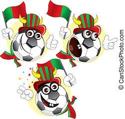 palla, portugalian, cartone animato