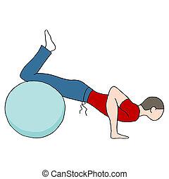 palla, pushups, idoneità