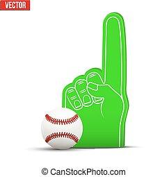 palla, schiuma, dita, sport, baseball, ventilatore