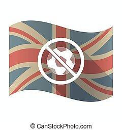 palla, segnale, isolato, bandiera, regno unito, conceduto, non, calcio