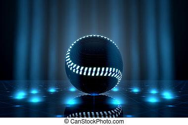 palla, spotlit, palcoscenico