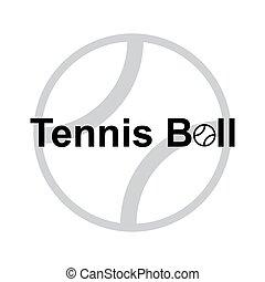 palla, tennis, isolato, illustrazione, vettore, disegno, sport, icona