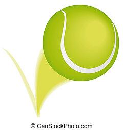 palla, tennis, rimbalzo