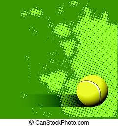 palla tennis, sfondo verde