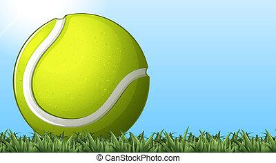 palla tennis, suolo