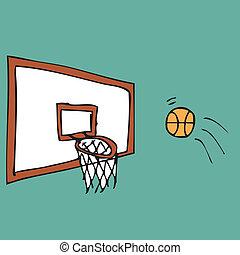 pallacanestro, colpo, punteggio