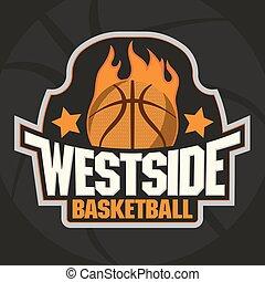 pallacanestro, emblema, squadra