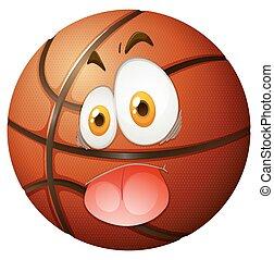 pallacanestro, faccia sciocca