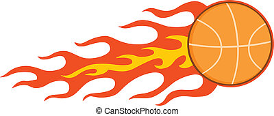 pallacanestro, fiammeggiante