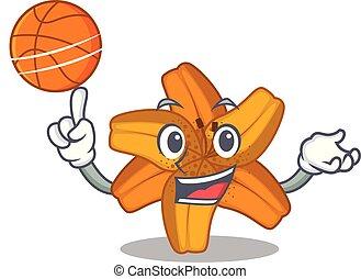 pallacanestro, forma, tiger, fiore, giglio, cartone animato
