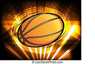 pallacanestro, grafico, con, luci