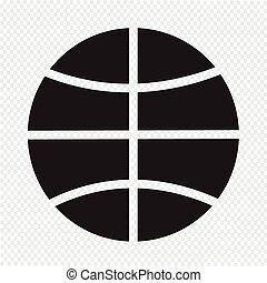 pallacanestro, icona