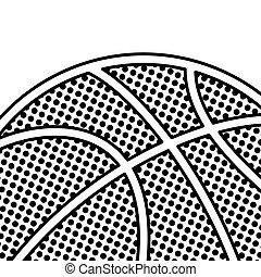 pallacanestro, nero, punteggiato, fondo