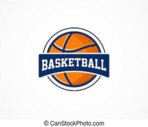 pallacanestro, simbolo, sport, americano, logotipo, icona