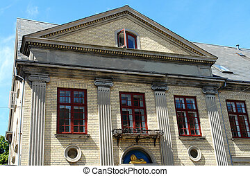 palladian, 古典の neo, 建築, スタイル, 家