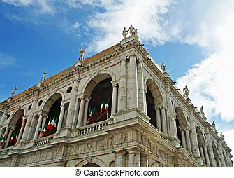 Palladian Basilica with Italian flags