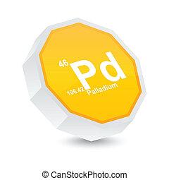 palladium button