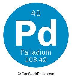 Palladium chemical element. Belongs to platinum group...