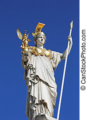 Pallas Athena Statue in front of the Austrian Parliament in Vienna