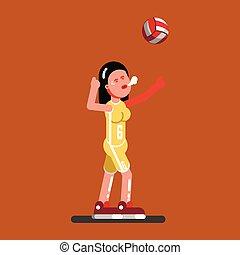 pallavolo, femmina, giocatore