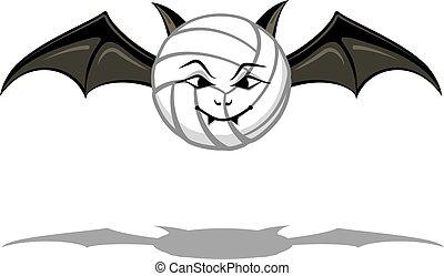 pallavolo, vampiro, pipistrello