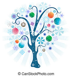 palle, albero, natale