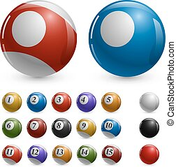 palle, colorare, vettore, samples., sagoma, vuoto, stagno