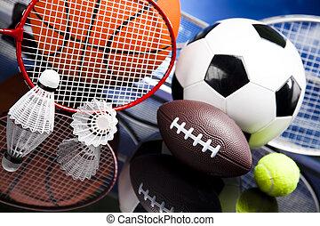 palle, sport, apparecchiatura