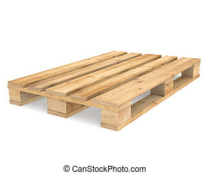 Pallet - A CEN/EURO pallet on white Backgound. Part of...