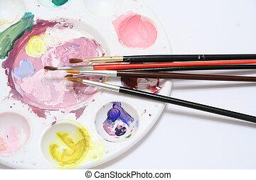 pallet, artist\\\'s