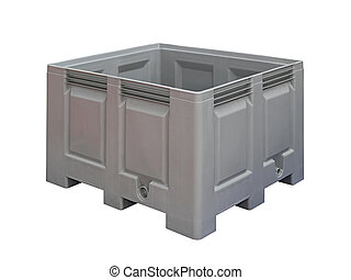 Pallet crate isolated - Plastic pallet crate isolated...