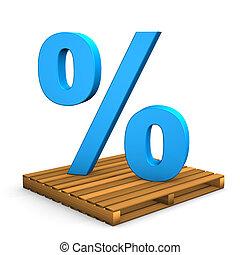 pallet, percento