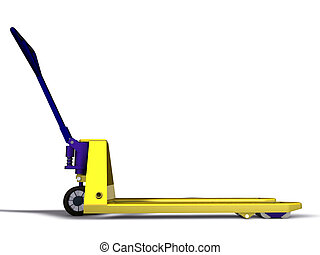 pallet truck isolated on white background