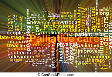 Palliative care background concept glowing - Background...