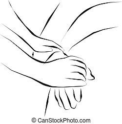 palliative care - hold hand