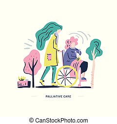 Palliative Care Illustration