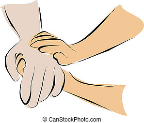 palliative care - hold hand with palliative care
