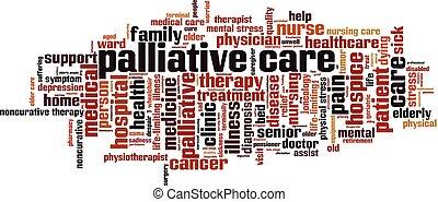 Palliative care word cloud