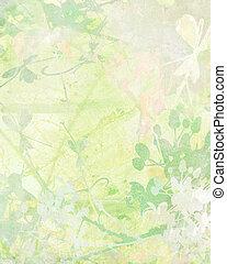 pallido, fiore, arte, su, carta, fondo