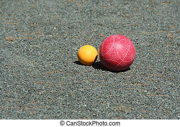 pallino, bocce 球, 赤