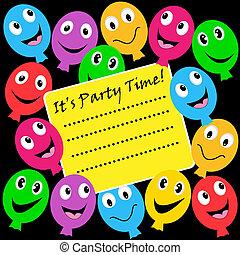 palloni, festa, invito