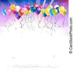 palloni, fondo, festivo