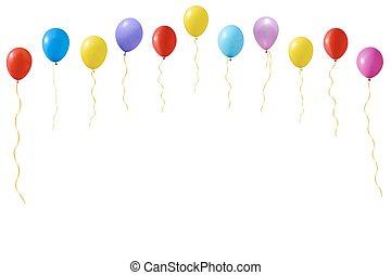 palloni, set, colorito
