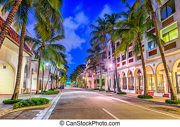 Palm Beach Florida - Palm Beach, Florida, USA at Worth Ave.