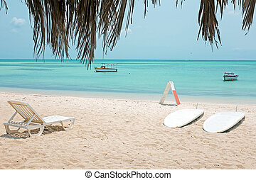 Palm Beach on Aruba island in the Caribbean