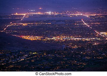 Palm Desert Night Panorama