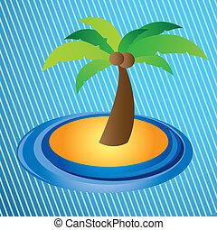 palm design over lineal  background vector illustration